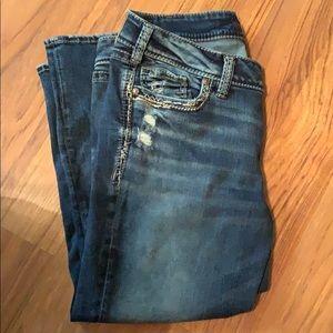 Silver Jeans Jeans - Silver Jean Capri EUC!!!!